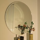 Regency Round Frameless Mirror