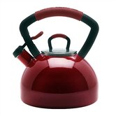 Gourmet Essentials 2.25 Quart Soft Grip Tea Kettle in Red