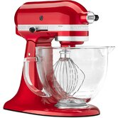 Artisan Design Series 5 Qt. Stand Mixer with Glass Bowl