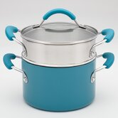 Aluminum 3-qt. Stainless Steel Double Boiler with Lid