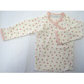 Twenty-Four Seven Long Sleeve Side Snap Shirt in Pink Dots