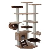 "67"" Troy Cat Tree in Brown and Beige"