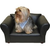Mini Sofa Leatherette Pet Bed