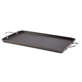 "Hard Anodized II Nonstick 18"" x 10"" Double Burner Grill"
