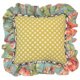Lucy Victoria Full Nursery Celery Dot Pillow with Ruffle