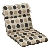Outdoor Rounded Sunbrella Fabric Chair Cushion