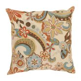 Floral Splash Polyester Throw Pillow