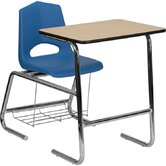 "Hercules Series Natural Laminate 32"" Student Combo Desk"
