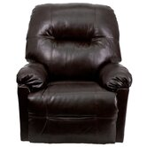 Contemporary Leather Chaise Power Recliner