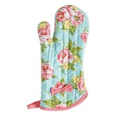Cottage Kitchen Rose Oven-Mitt with Bow