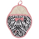 Zebra Scalloped Pot Mitt