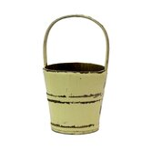 Vintage Water Bucket with Bamboo Handle