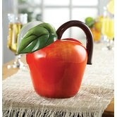 Fresh Fruit Ceramic Apple Pitcher in Red