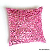 Jewel Beads and Silk Dupioni Pillow