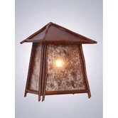 Bundle of Sticks Tri Roof Outdoor Wall Lantern