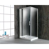 40'' Corner Glass Pivot Door Shower Enclosure with Acrylic Base