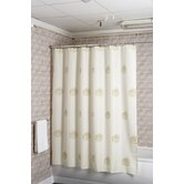 Gold Swirls Fabric Shower Curtain