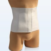 Tapered Abdominal Binder in White