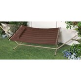 &quot;S&quot; Stitched Comfort Classic Poly Quilted Hammock with Stand