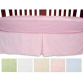 Heavenly Soft Minky Dot Crib Skirt