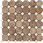 Campione 2&quot; x 2&quot; Octagon Mesh-Mounted Mosaic in Andretti