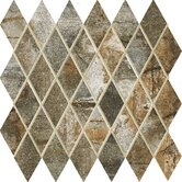 "Vesale Stone 2"" x 3 1/2"" Decorative Diamond Mosaic in Moss"