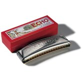 Echo 32 Octave Tuned Harmonica in Chrome - Key of C