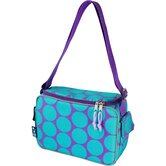 Ashley Big Dots Aqua Lunch Cooler