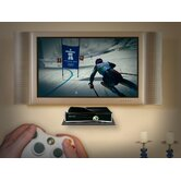 Glass Gaming Console Wall Shelf