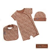 3 Piece Baby Gift Set in Giraffe Print