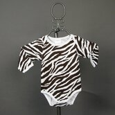 Zebra Infant Bodysuit - Long Sleeve in Brown