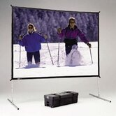 Deluxe Complete Fast-Fold Portable Front Projection Screen - 9 x 12' - Video Format - 4:3 Aspect - DA Mat