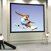 Ultra Wide Angle Heavy Duty Deluxe Fast Fold Complete Rear Projection Screen - 6' x 8'