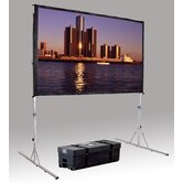"Fast Fold Deluxe 3D Virtual Black Projection Screen - 84"" x 84"" HDTV Format"