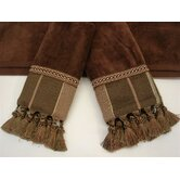 Chambord Brown/Brown 3-Piece Decorative Towel Set