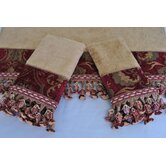China Art Red 3-piece Decorative Towel Set