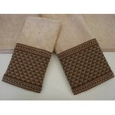 Amore Wheat/Brown 3-Piece Decorative Towel Set