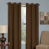 Microfiber Grommet Blackout Window Panel in Chocolate