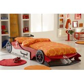 Red Formula One Car Bed Frame