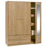 Frucha 3 Door 2 Drawer Wardrobe