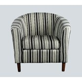 April Tub Chair in Black and White Stripes