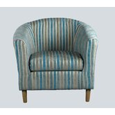 April Tub Chair in Teal Stripes