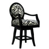 Black Frame Zebra Barstool (Short)
