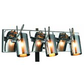 Silhouette Three Light Wall Sconce in Chrome