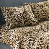 Textured Cheetah Print Sheet Set