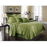King Charles Matelasse Coverlet Bedding Collection in Fern