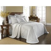 King Charles Matelasse Bedspread Bedding Collection in White