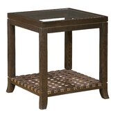 Accents Leather Woven End Table