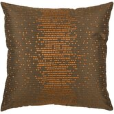 "T-3886 18"" Decorative Pillow in Brown / Orange"