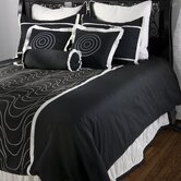 Black Berry Bedding Set in Black / White